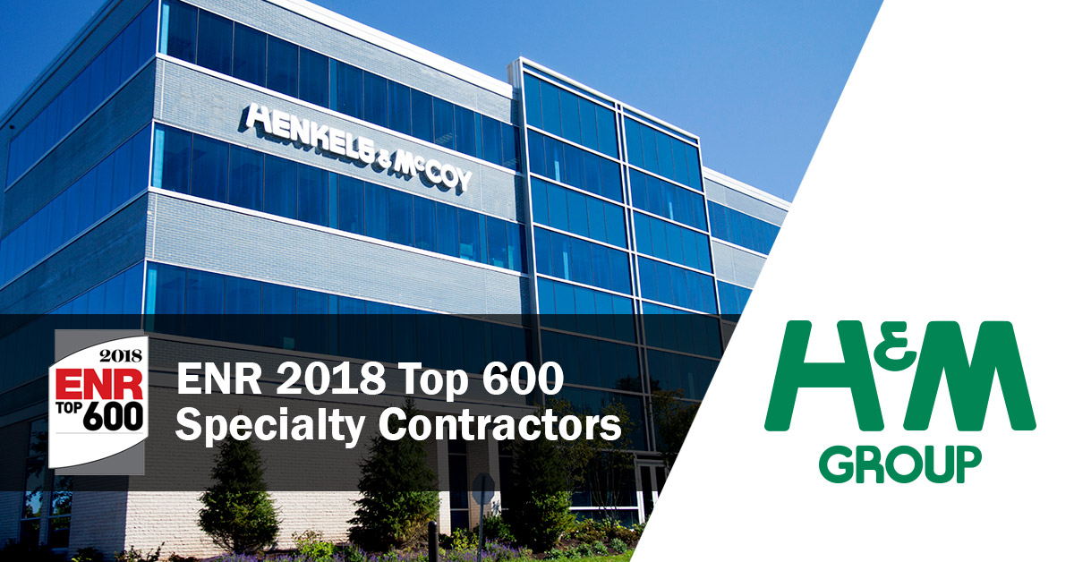 Henkels & McCoy Group Ranks in the Top 10 of ENR's Specialty