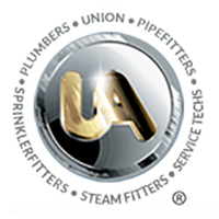 United Association of Journeymen and Apprentices Plumbing Pipefitting Industry US and CA Logo